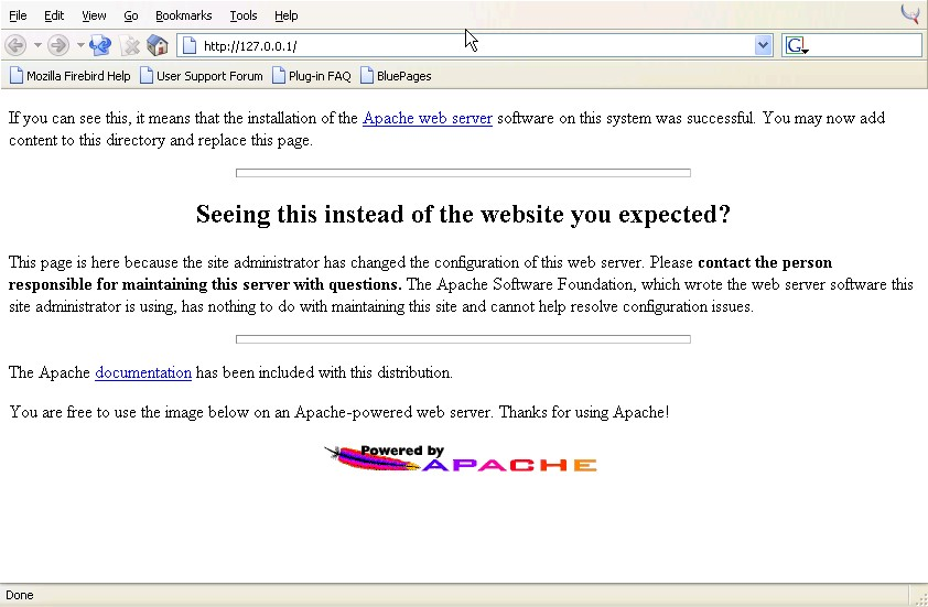 Installing Apache on XP